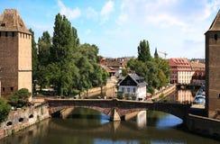 Маленькая страсбург Франция Франции, Эльзас Стоковые Изображения