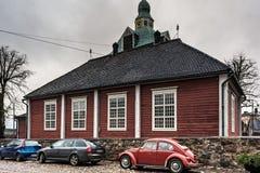 Маленькая церковь в Porvoo, Финляндии стоковая фотография