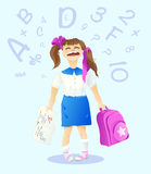 Маленькая школьница Стоковое Изображение