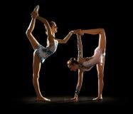 Маленькие девочки включили искусство гимнастическое Стоковые Фото