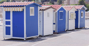 Маленькие кабины для посылки билетов Стоковые Фото