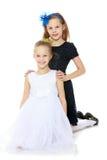 Маленькие кавказские близнецы девушки Стоковое Изображение RF