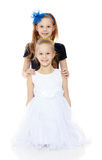 Маленькие кавказские близнецы девушки Стоковые Изображения RF