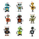 Маленькие роботы установили 3 Стоковое Изображение RF