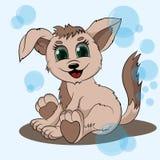 Маленькие щенок и пузыри Стоковые Фото
