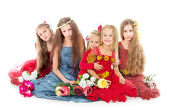 маленькие princesses стоковое изображение rf