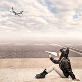 Маленький авиатор стоковое фото