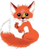 Маленький вектор лисы Стоковые Изображения
