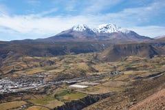 Маленький город в чилийском Altiplano Стоковое фото RF