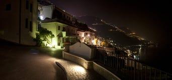 Маленький город ночи стоковое изображение rf