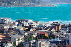 Маленький город около моря Стоковая Фотография RF