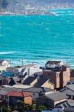 Маленький город около моря Стоковое Изображение