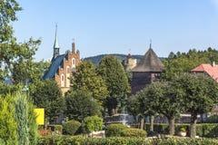 Маленький город Czchów  стоковое изображение rf