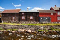Маленький город Roros в Норвегии Стоковое Изображение