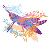 Маленький голубой кузнечик Стоковая Фотография RF