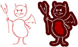 Маленький красный дьявол Стоковое Изображение RF