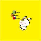 Маленький кролик и кубы Стоковая Фотография RF