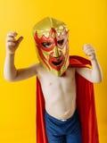 Маленький мексиканский борец Стоковая Фотография