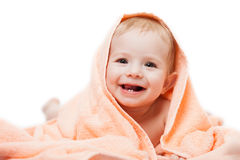Маленький милый newborn ребенок младенца Стоковое Изображение RF