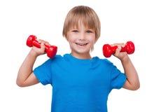 Маленький сильный человек Стоковая Фотография