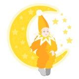 Маленький сонный волшебник Стоковое фото RF