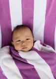Маленький усмехаться младенца Стоковое фото RF