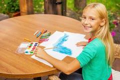 Маленький художник на работе Стоковая Фотография RF