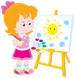 Маленький художник иллюстрация вектора