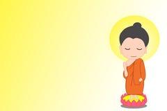 Маленький шарж Будды стоковое изображение rf