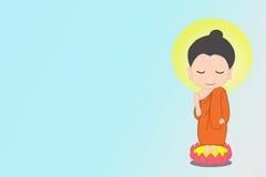 Маленький шарж Будды стоковые фотографии rf