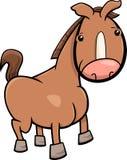 Маленький шарж лошади или осленка Стоковое Изображение