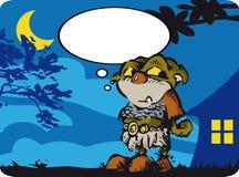 Маленький людоед в ноче Бесплатная Иллюстрация