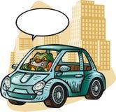 Маленький людоед управляя автомобилем Бесплатная Иллюстрация