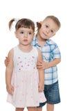 2 маленьких дет совместно Стоковые Изображения