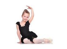 Маленькое усаживание балерины Стоковое Изображение RF