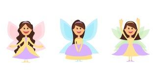 Маленькое fairy whith девушек подгоняет и в платьях шарика также вектор иллюстрации притяжки corel Стоковые Изображения