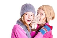 2 маленькой девочки беседуют Стоковое Фото