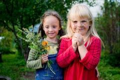 2 маленькой девочки Стоковые Фото