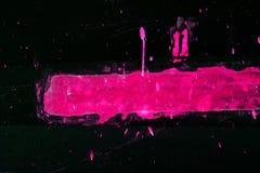 Малиновая нашивка и брызнутые падения Стоковое Изображение RF
