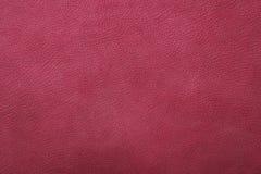 Малиновая розовая кожаная предпосылка Стоковая Фотография RF