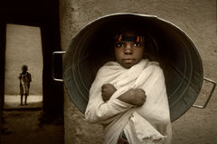 Мали, Западная Африка - портрет ребенка Стоковые Фото