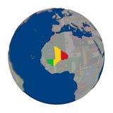Мали на политическом глобусе Стоковые Изображения RF