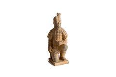 Малое воспроизводство статуи ратника терракоты Xian Стоковые Изображения RF