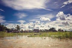 Село в джунглях Стоковая Фотография