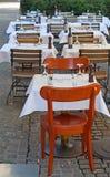 Малое кафе улицы стоковое фото rf