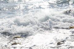 Малое прибрежное море развевает лето Стоковое фото RF