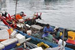 Малое fishboat на пароме Yilan County, Тайваня Стоковое Изображение