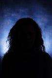Малознакомый женский силуэт Стоковая Фотография