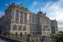 Мадрид, Испания - 17-ое июня: Королевский дворец в Мадриде, Испании, Eur Стоковое Изображение RF