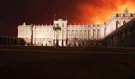 Мадрид, королевский дворец - Испания стоковые фото
